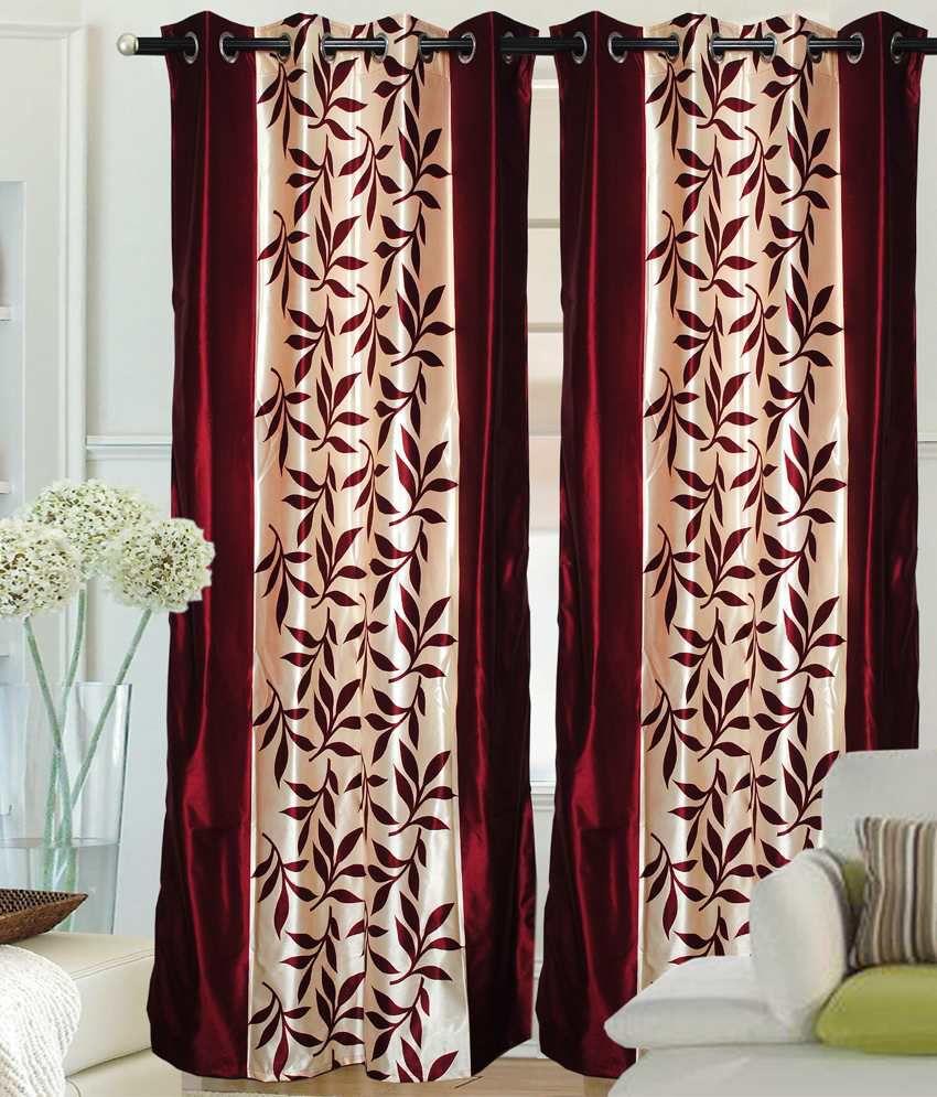 Fantasy Home Decor Premium Curtain Border Maroon Set Of Home Decorators Catalog Best Ideas of Home Decor and Design [homedecoratorscatalog.us]
