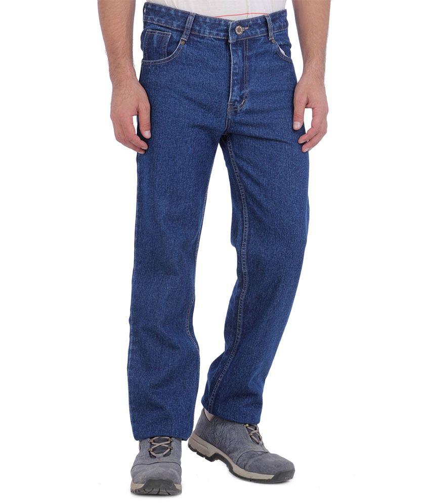 Unique Appparel Blue Cotton Regular Fit Jeans