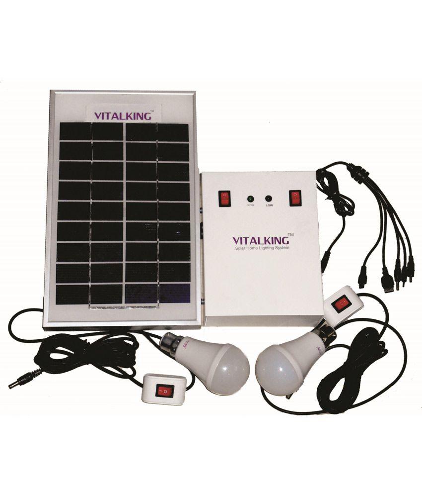Solar Home Lighting: Vitalking Solar Home Lighting System1 Solar Emergency