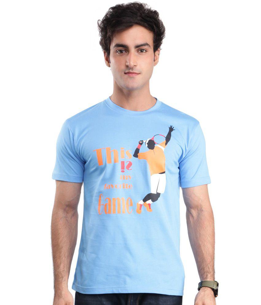 Zezile Tennis Royal Blue Printed Tshirt