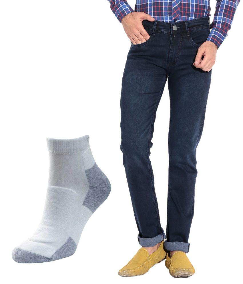 Pazel Blue Tapered Jeans