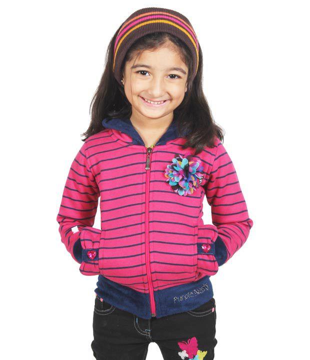 Purple Nasty Full Sleeves Pink Color Jacket For Kids