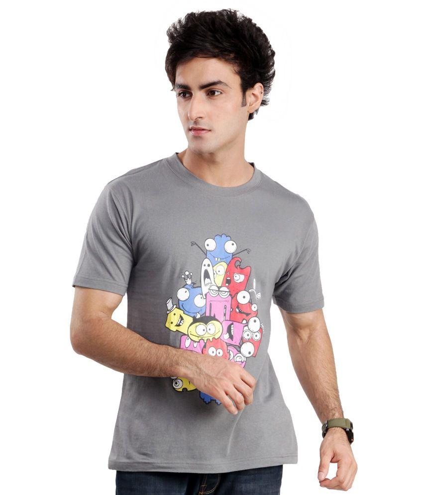 Zezile Bff Grey Printed Tshirt