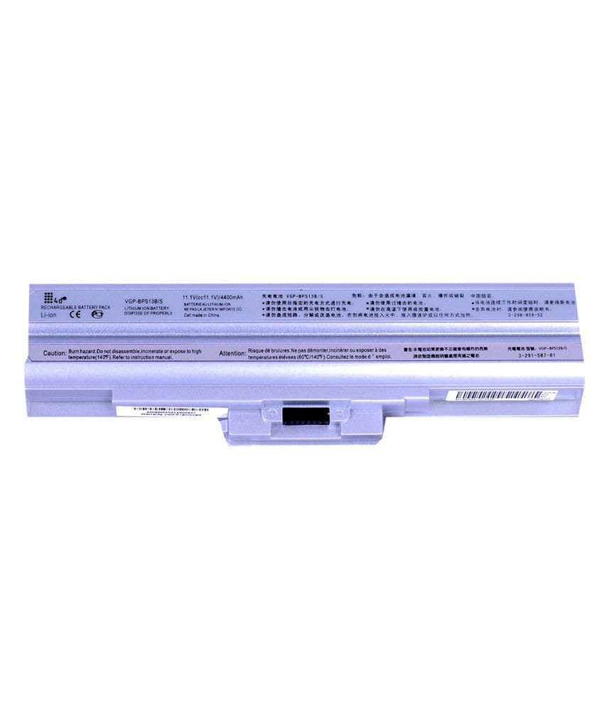 4d Sony Vaio Vgn-fw54fb 6 Cell Laptop Battery