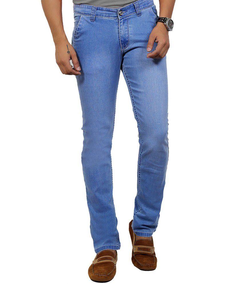 Dfu Dark German Blue 100% Cotton Lycra Denim Narrow Fit Jeans For Men | Dfudfutoby 2