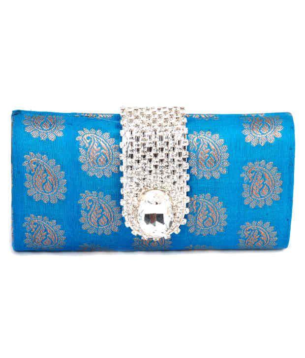 Favola Fbb0051 Blue Clutch