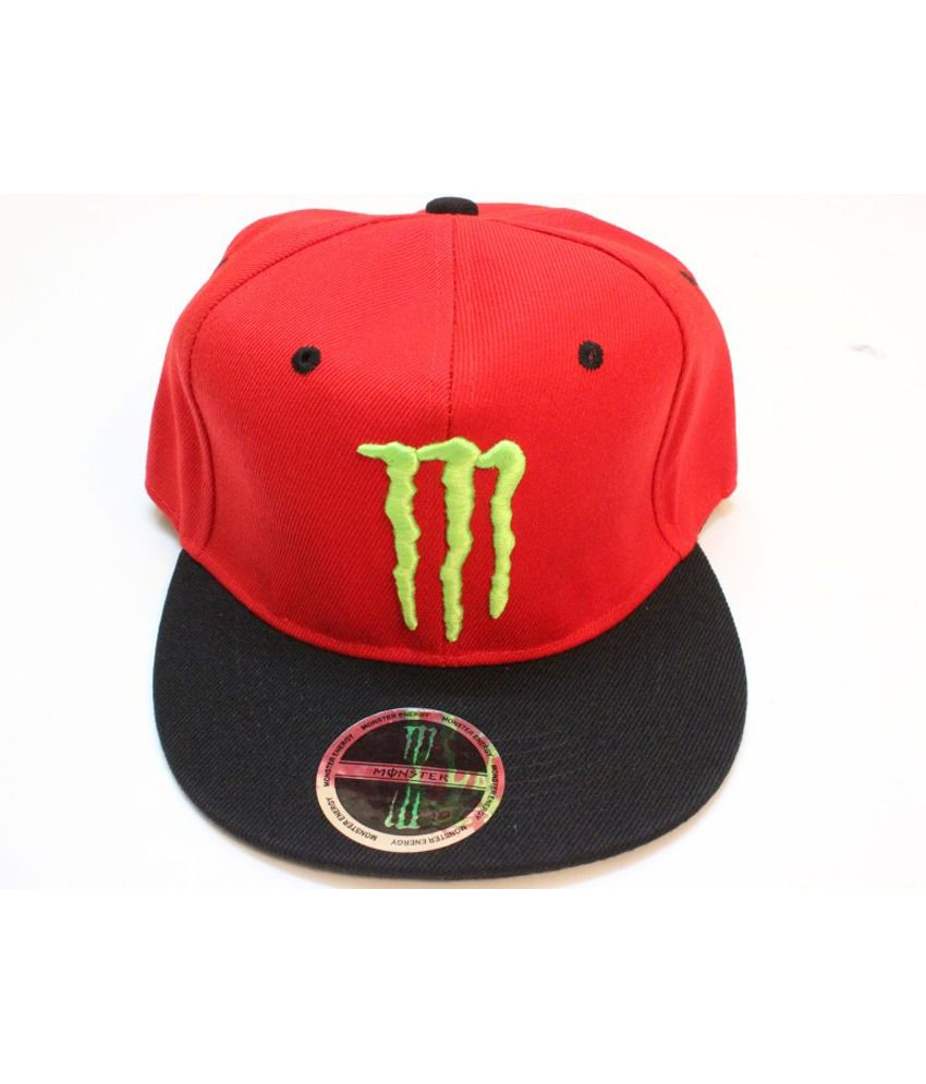 TakeInCart MONSTER  Snapback & Hiphop Caps (Red & Black)