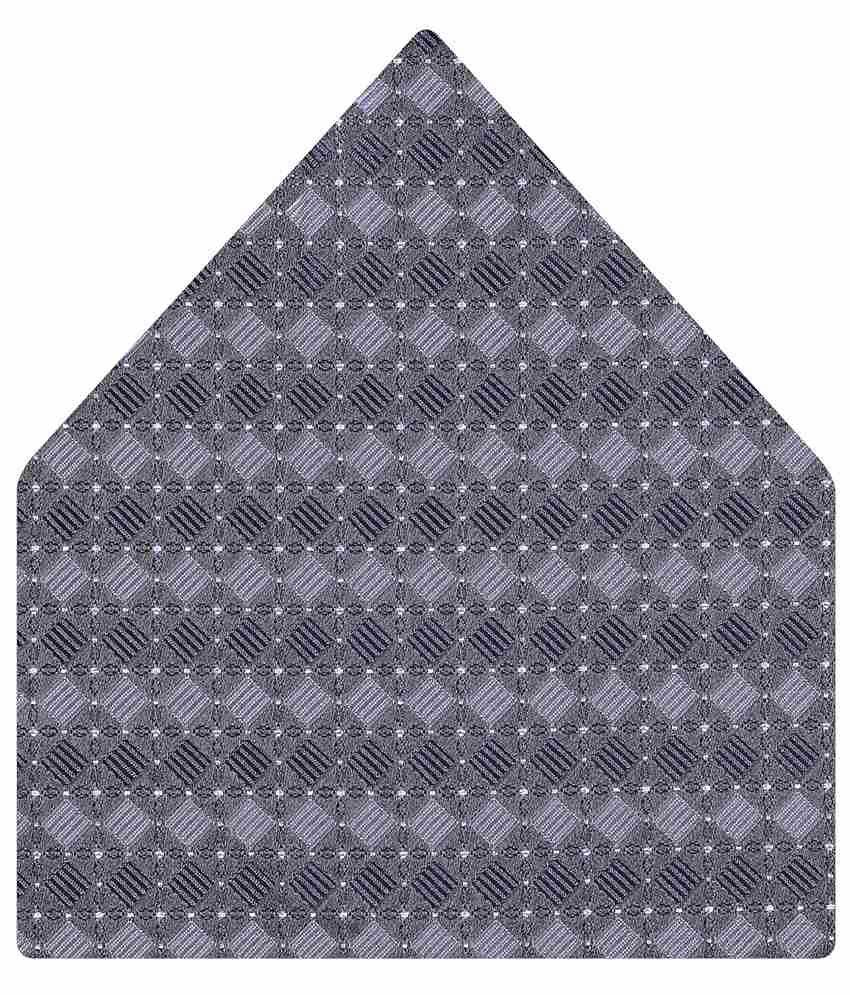 Tiekart Gray Geometrical Pocket Square