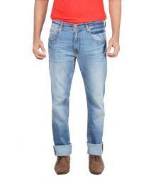 Levis Blue Cotton Straight Fit Basics Jeans