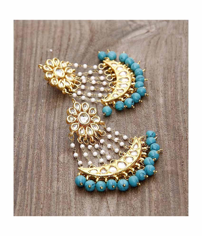 Aradhyaa Jewel Arts Chandeliers Earring With Polki Cut