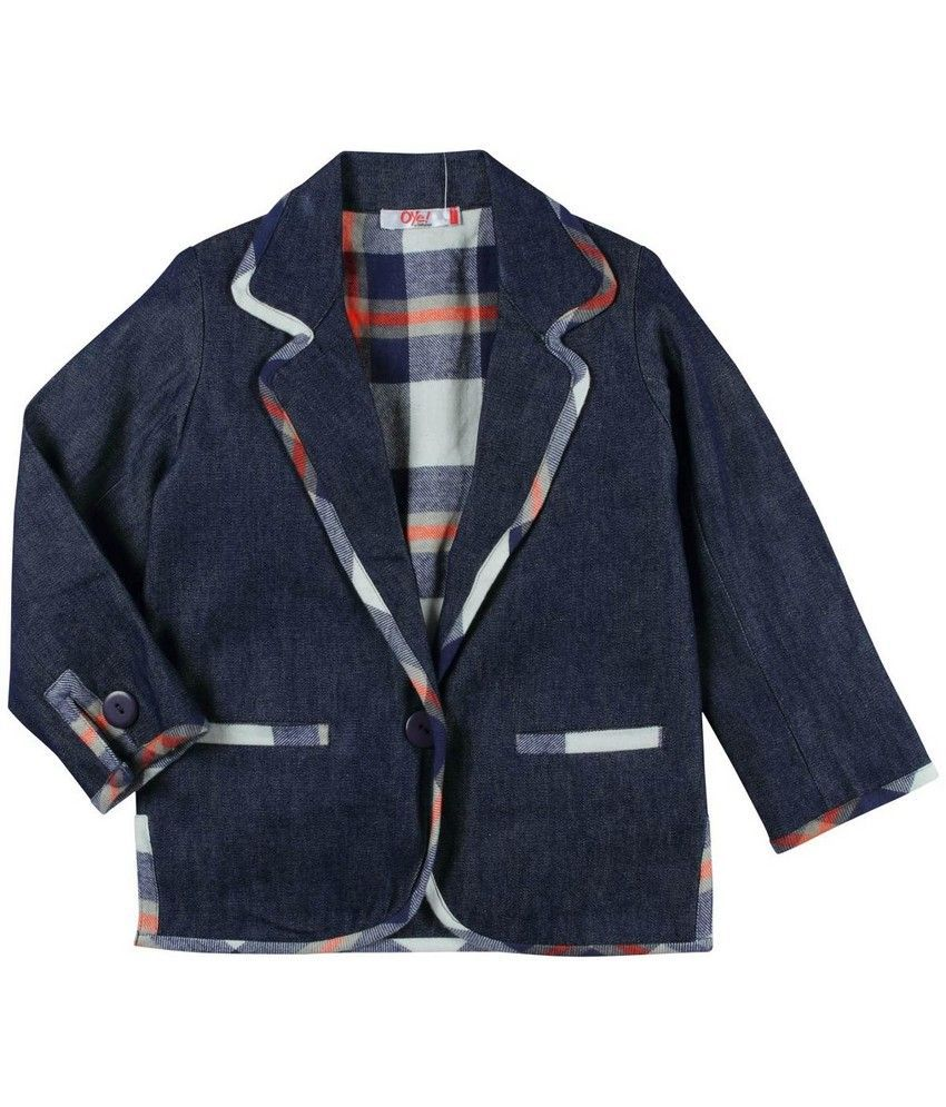 Oye Full Sleeve Front Open Casual Jacket  - Blue