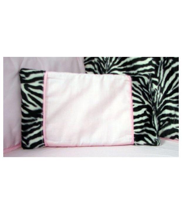 Soho Designs Pink Zebra Chenille Crib Nursery Bedding 10 Pieces Set