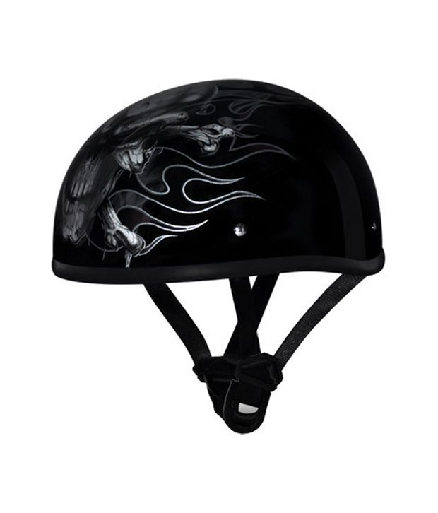 a4c0f60df4a Daytona - Skull Cap with Graphic Motorsports Helmet- Black  Buy Daytona - Skull  Cap with Graphic Motorsports Helmet- Black Online at Low Price in India on  ...