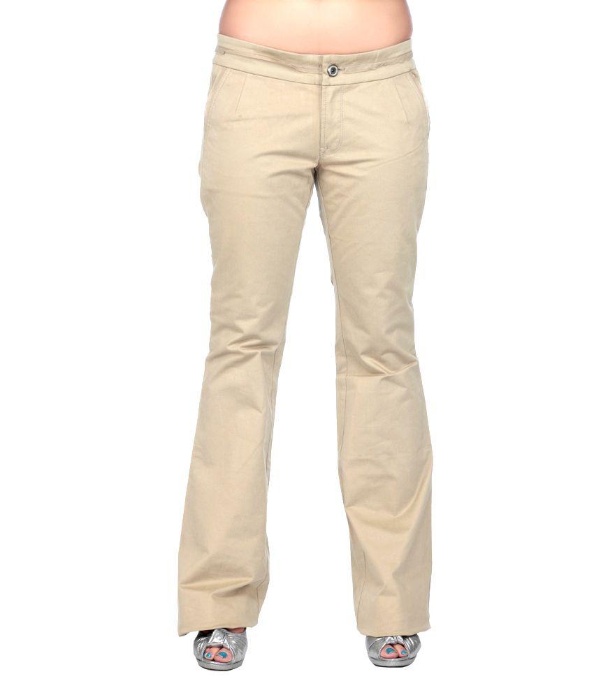 Dkny Dkny Women Beige Pants (Beige\/Sand\/Tan)