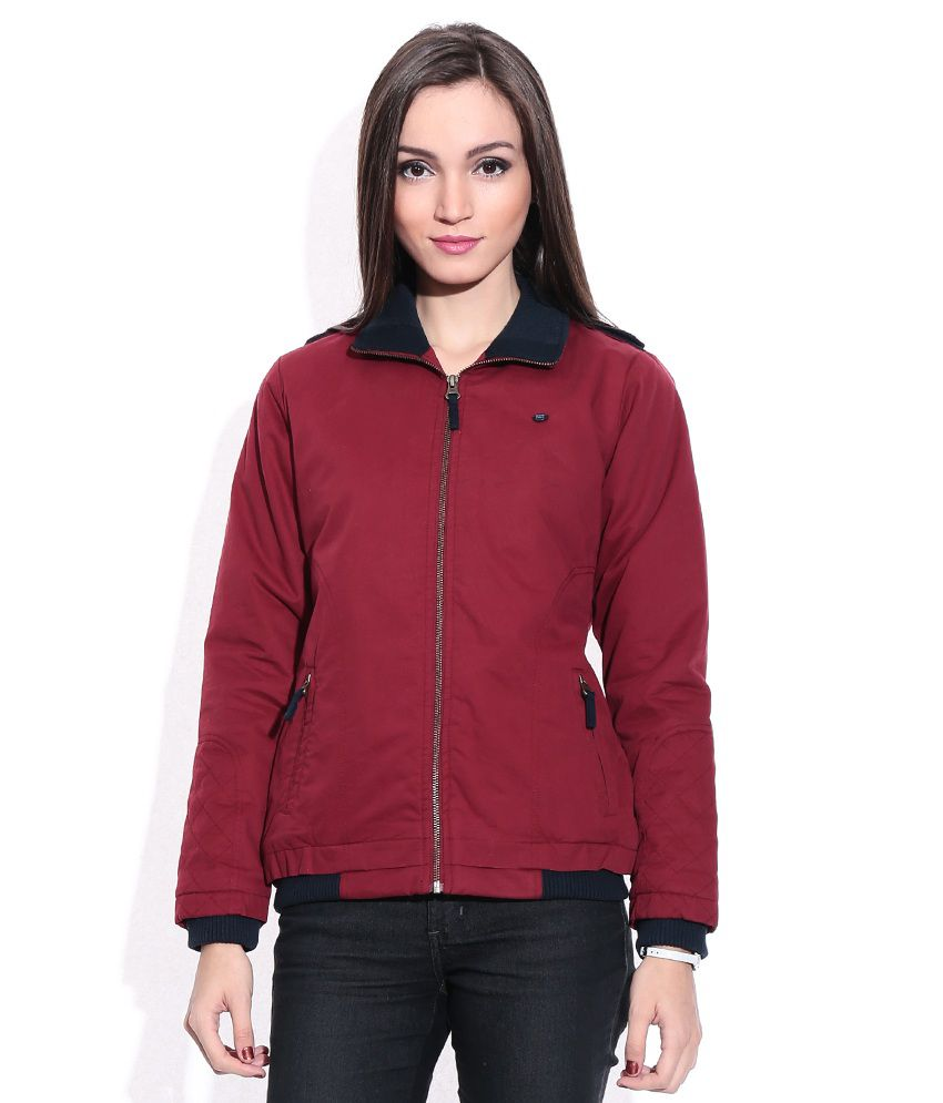 91fc2a6d6 Buy Monte Carlo Red Polyester Blend Jacket Online at Best Prices in India -  Snapdeal