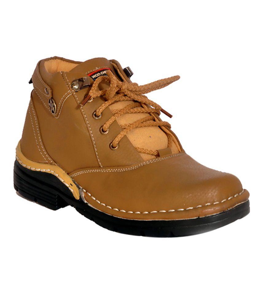 Shoe Mate Tan Leather Designer Boots