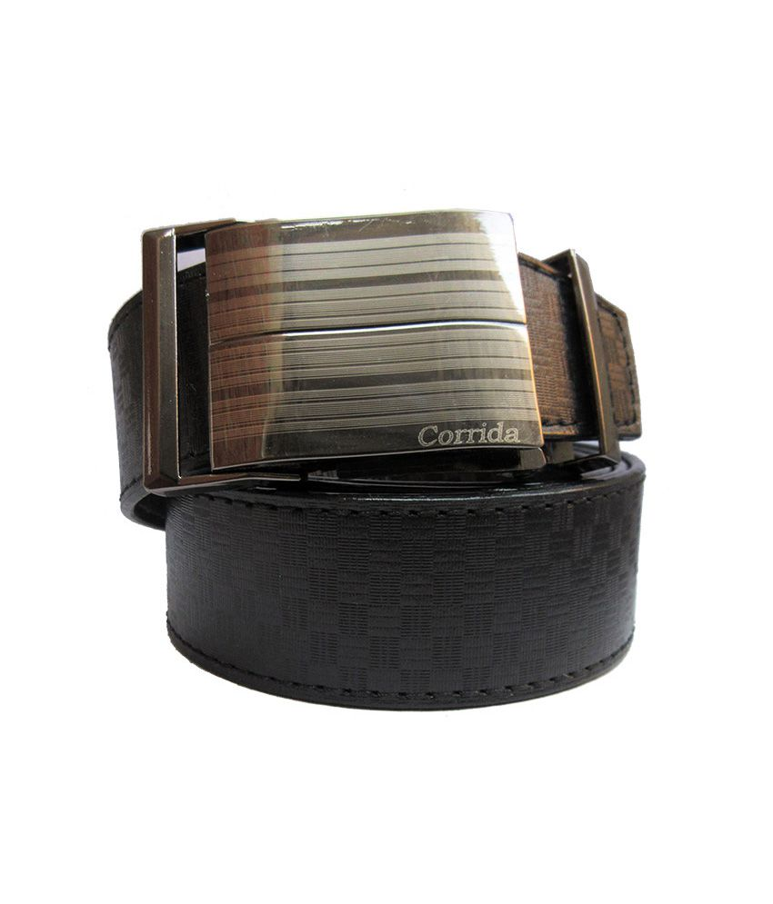 Urfashion Designer Buckle Black Mens Belt
