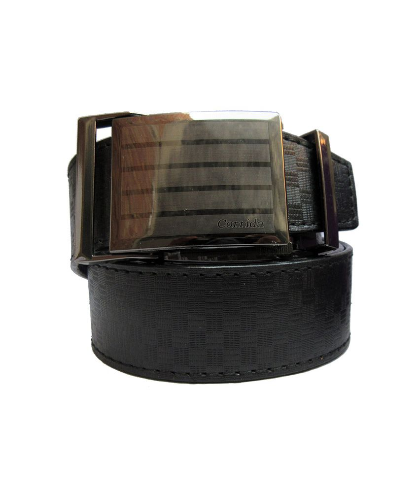 Urfashion Stylish Buckle Black Mens Belt