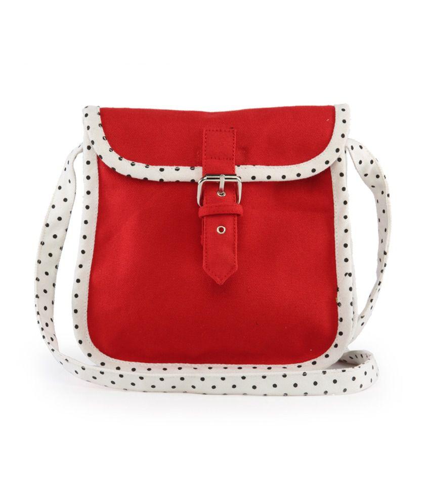 Vivinkaa Red Sling Bag - Buy Vivinkaa Red Sling Bag Online at Best ...