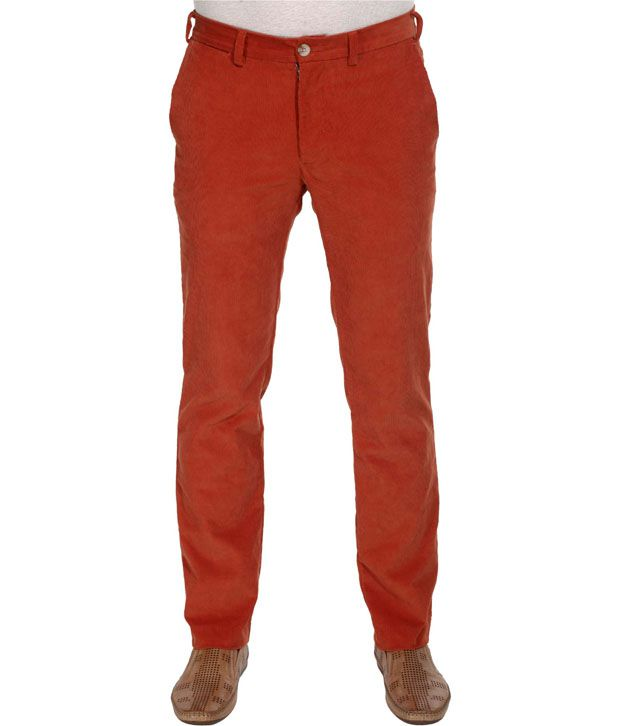 Zobello Slim Fit Stretchable Corduroy Pant