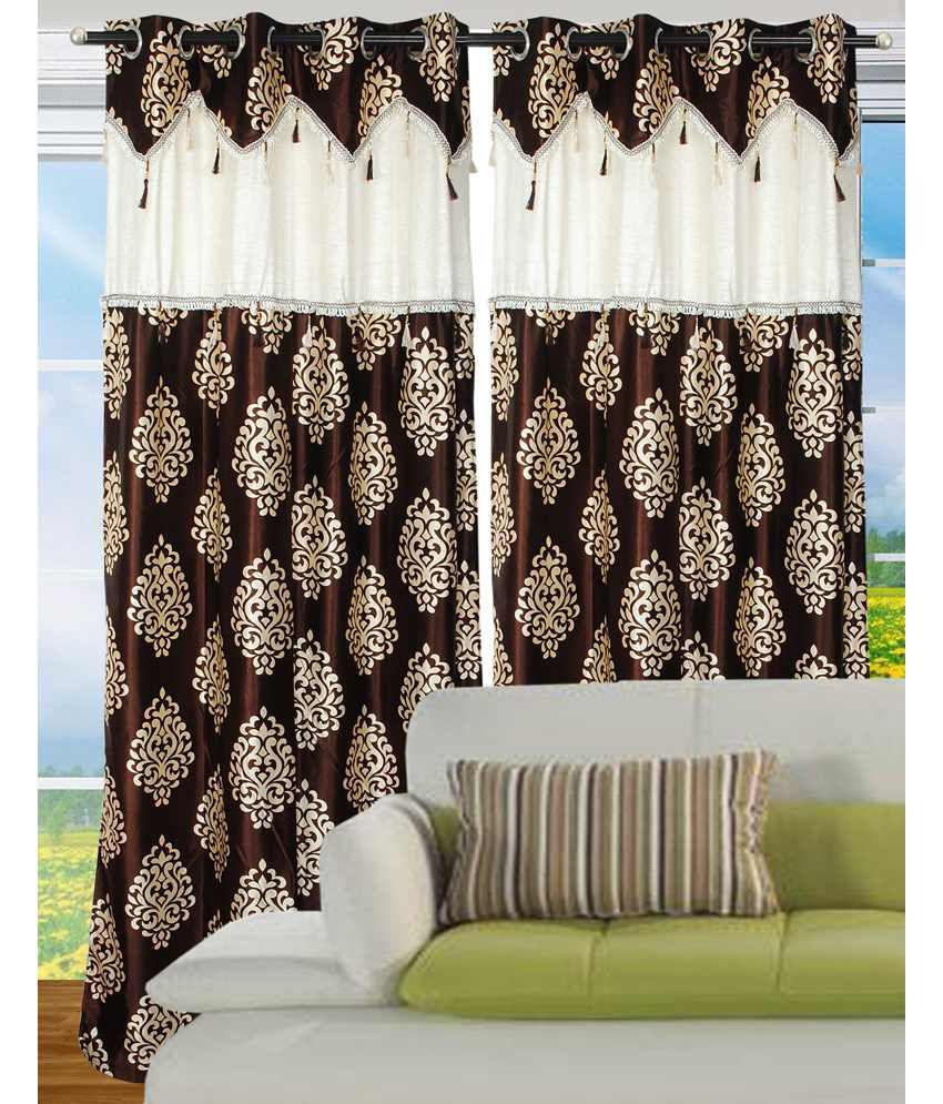 Fantasy Home Decor Single Door Eyelet Curtain Contemporary