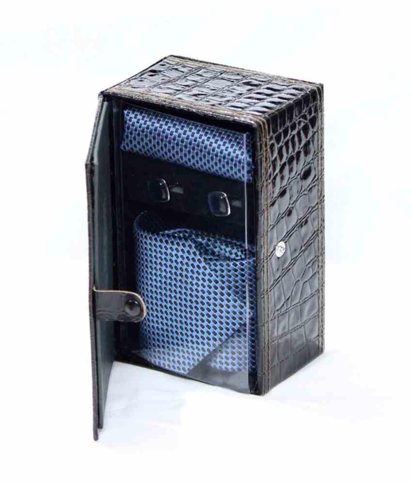 Auraa Combo Of Micro Fiber Necktie, Cufflink And Pocket Square Gift Set