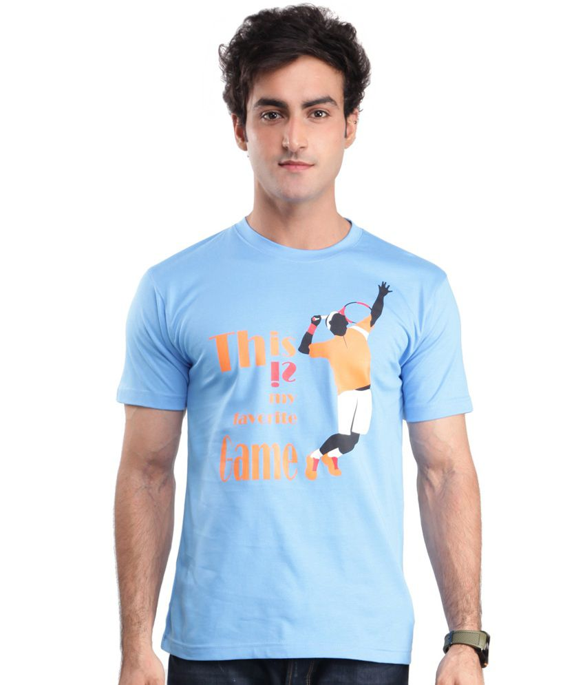 Zezile Tennis Royal Blue Printed Tshirt