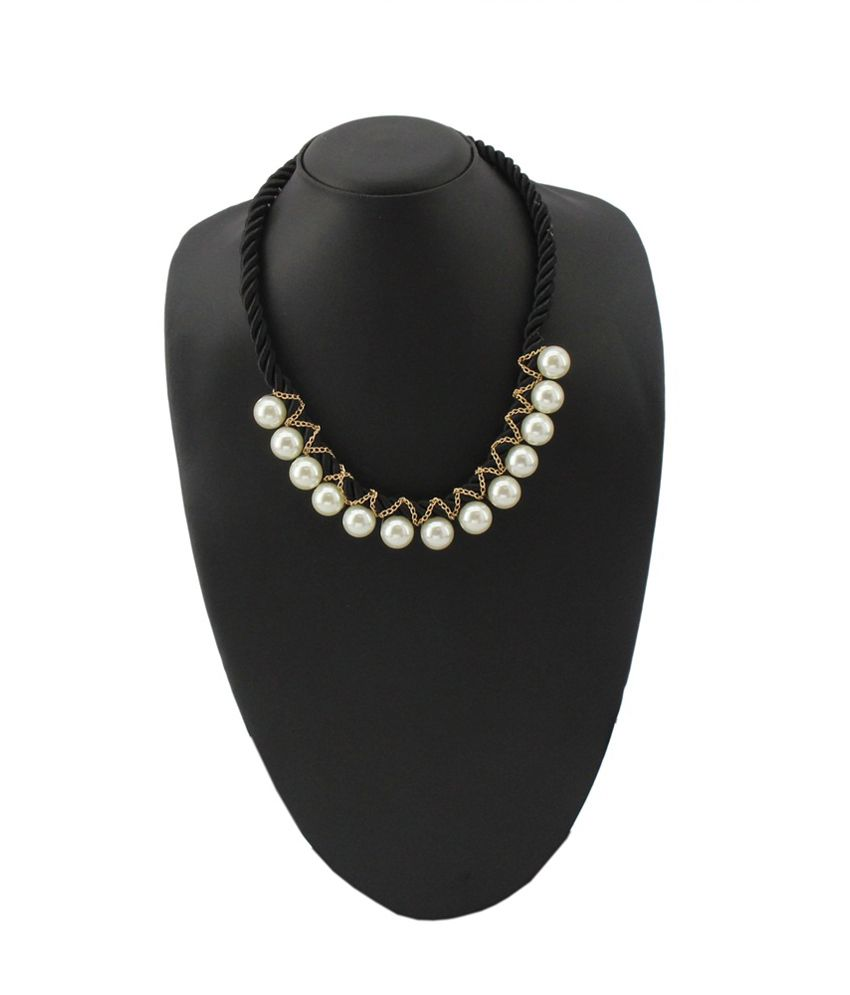 Jstarmart Black Traditional Alloy Necklace