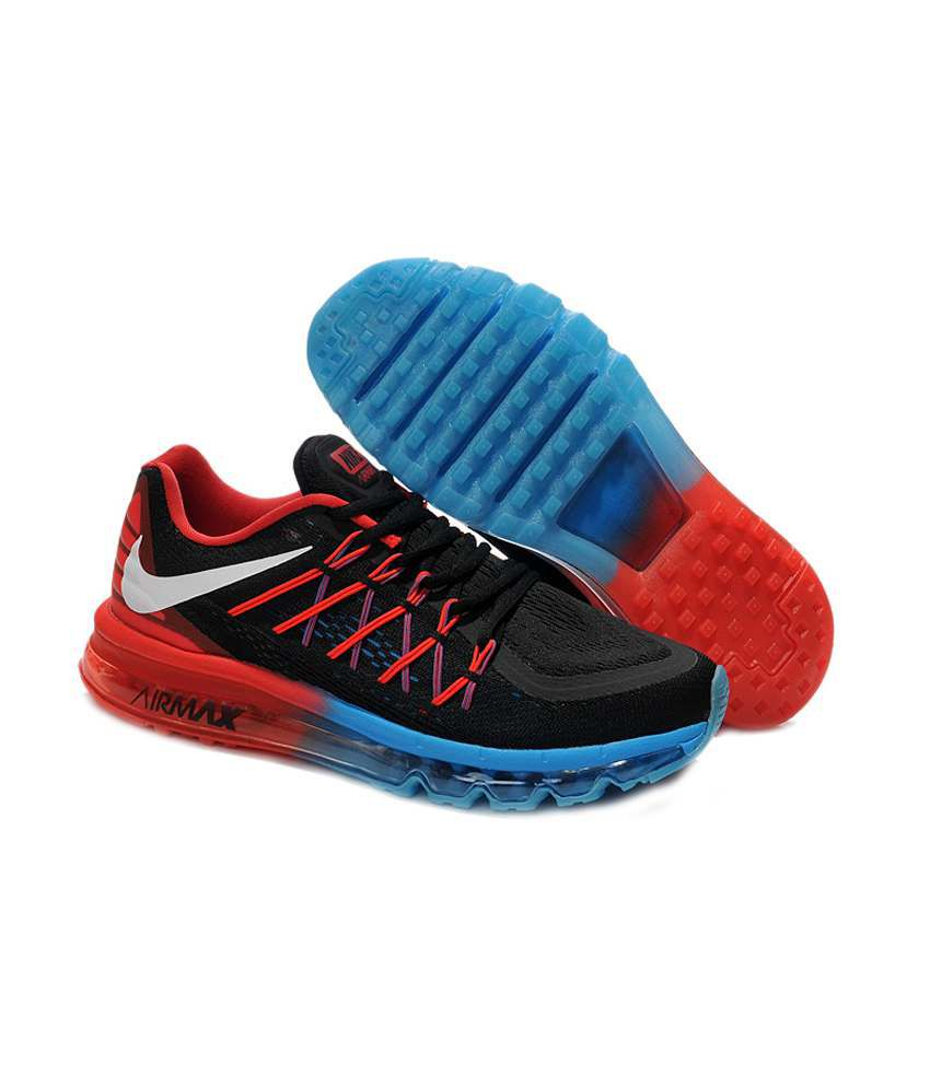 competitive price 0fe52 75fa5 ... Nike Air Max 2015 Black Running Shoes ...