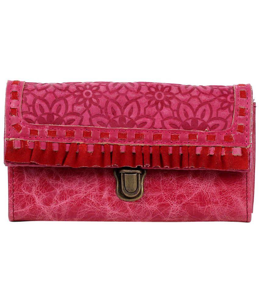 R&f Design Frfww7411 Pink Clutch