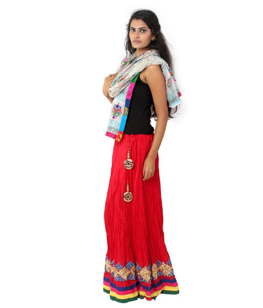 Buy Wv&u Red Long Skirt & Dupatta Online at Best Prices in ...