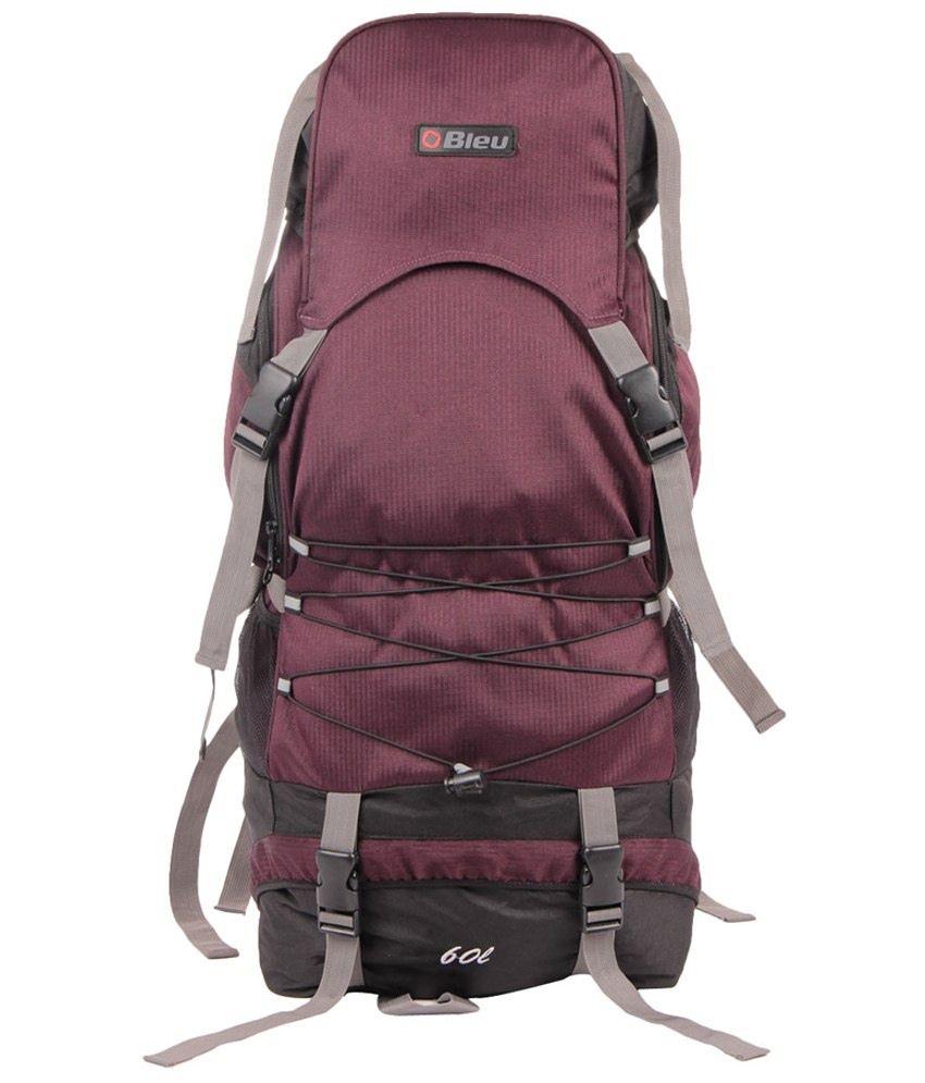 Bleu Purple & Black Hiking Rucksack