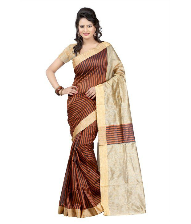 Kajal Sarees Green Kutch Embroidered Cotton Saree With Blouse Piece