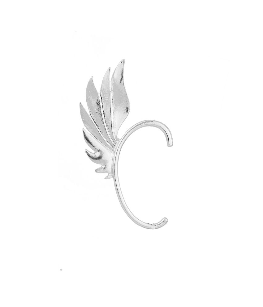 Voylla One Ear Cuff Earring With Wing Inspired Design For Unpierced