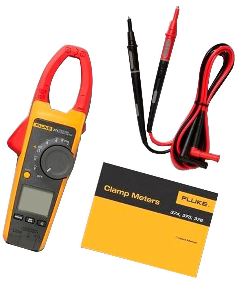 Fluke 374 True Rms 600a Ac/dc Clamp Meter With Inrush Current Measurement  Facility