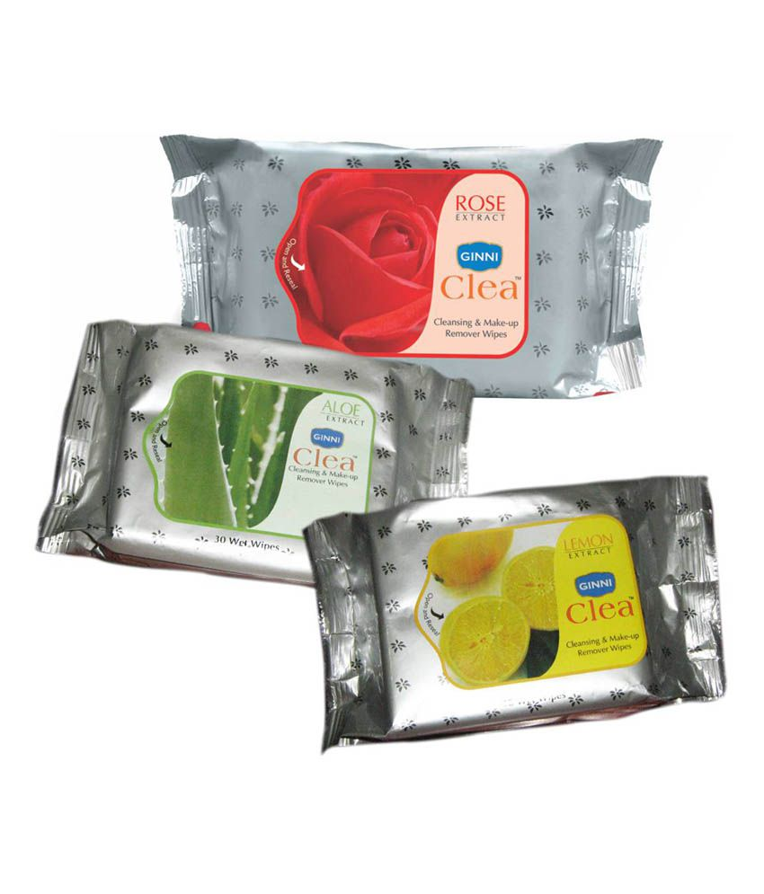 Ginni Refreshing Facial Wipes - Pack Of 3