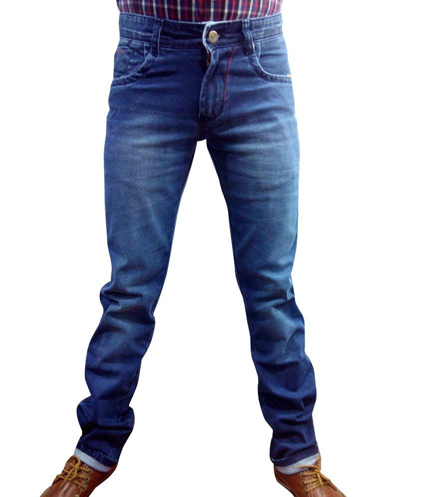 Hillforce Blue Cotton Jeans