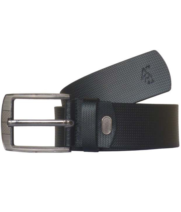 Sondagar Arts Black Casual Leather Belt For Men's
