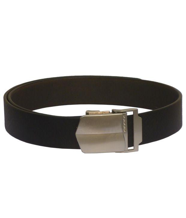 Sondagar Arts Black Leather Autolock Formal Men's Belt