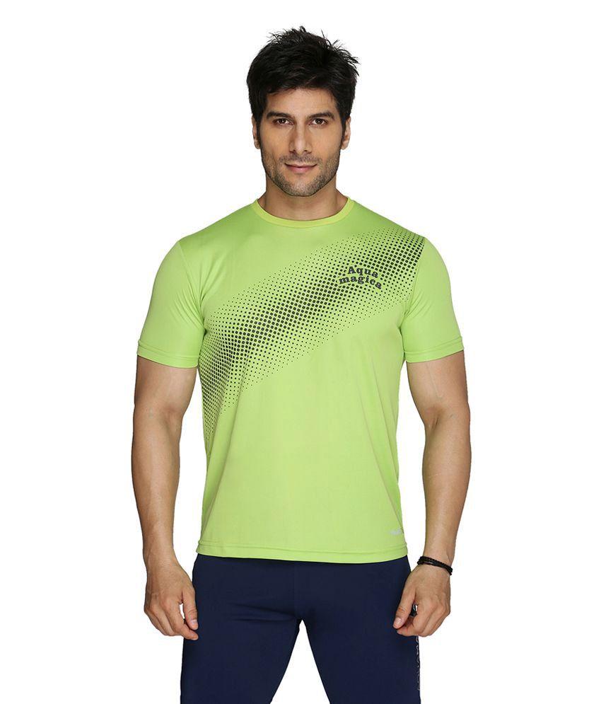 Aquamagica Green Polyester T-shirt