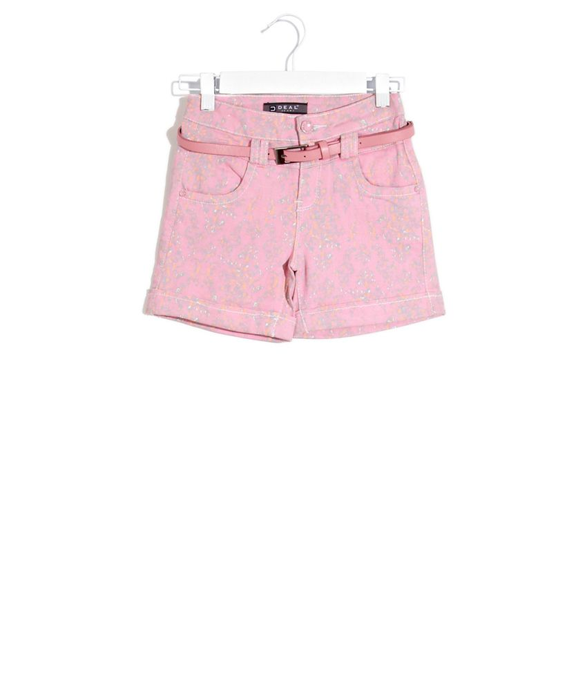 Deal Jeans Kids Green Floral Mania Shorts