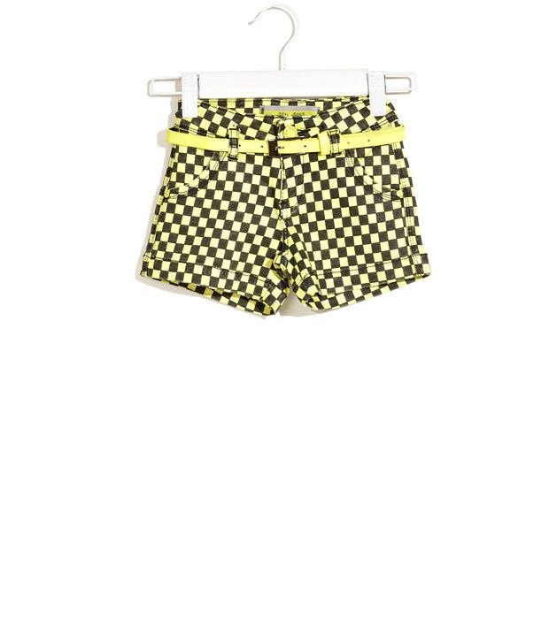 Deal Jeans Kids Yellow Casual Essential Checkered Shorts