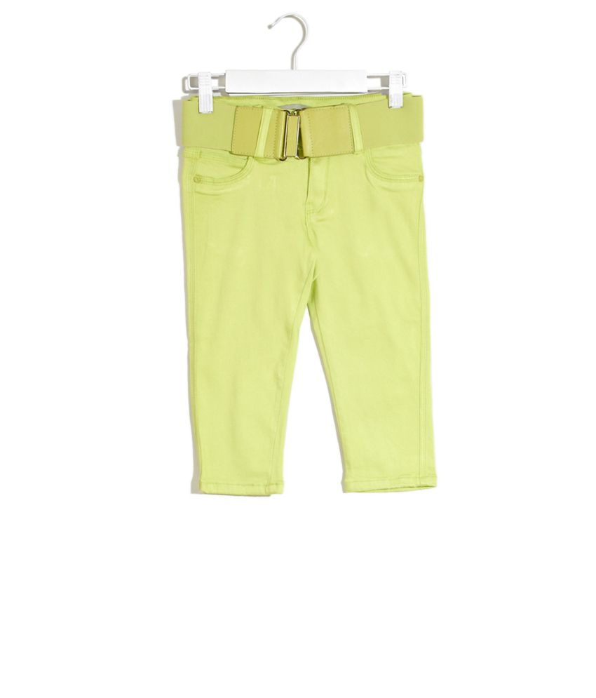 Deal Jeans Kids Yellow Voguish Capris