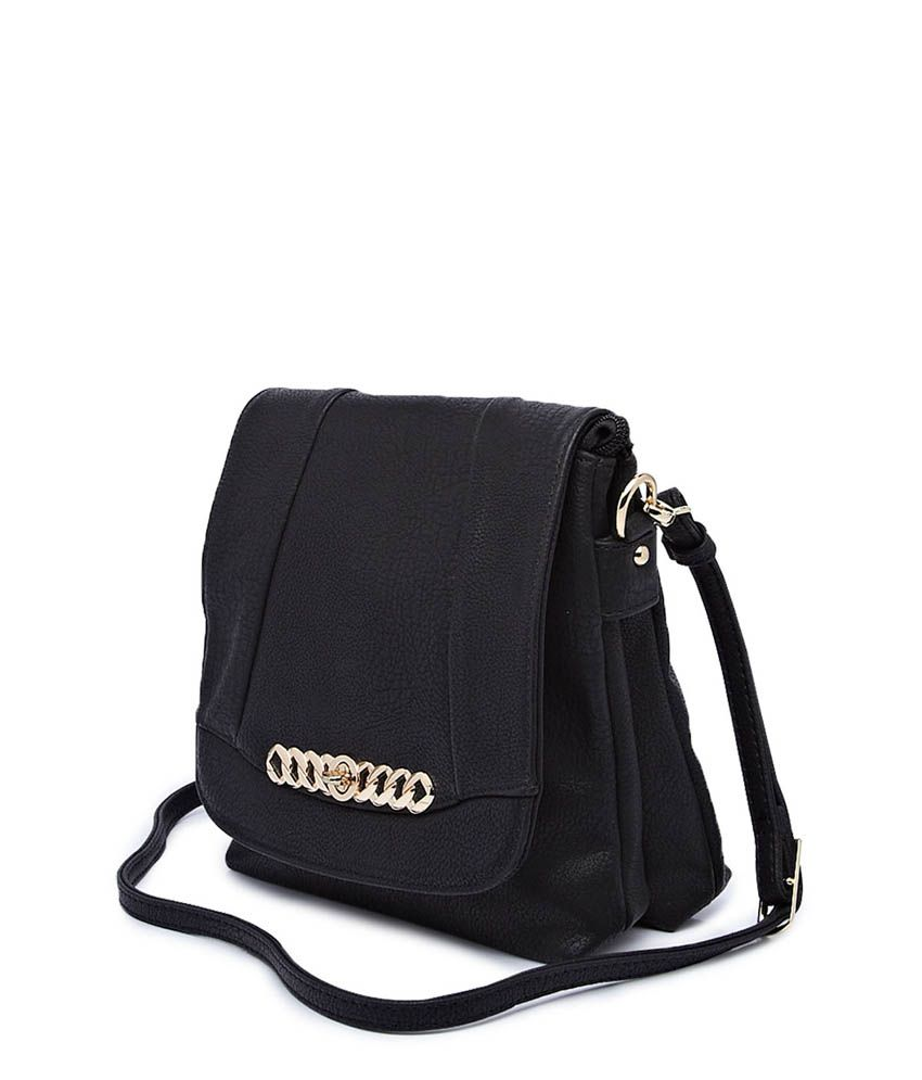 E2O Black Chic Style Sling Bag