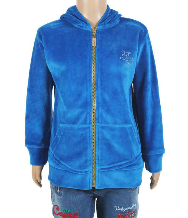 Eight26 Full Sleeves Blue Color Sweatshirt For Kids