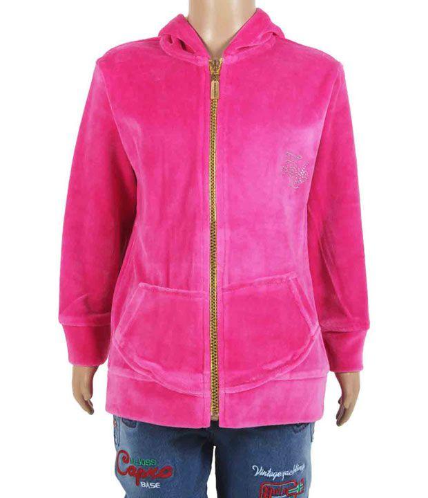 Eight26 Full Sleeves Pink Color Sweatshirt For Kids