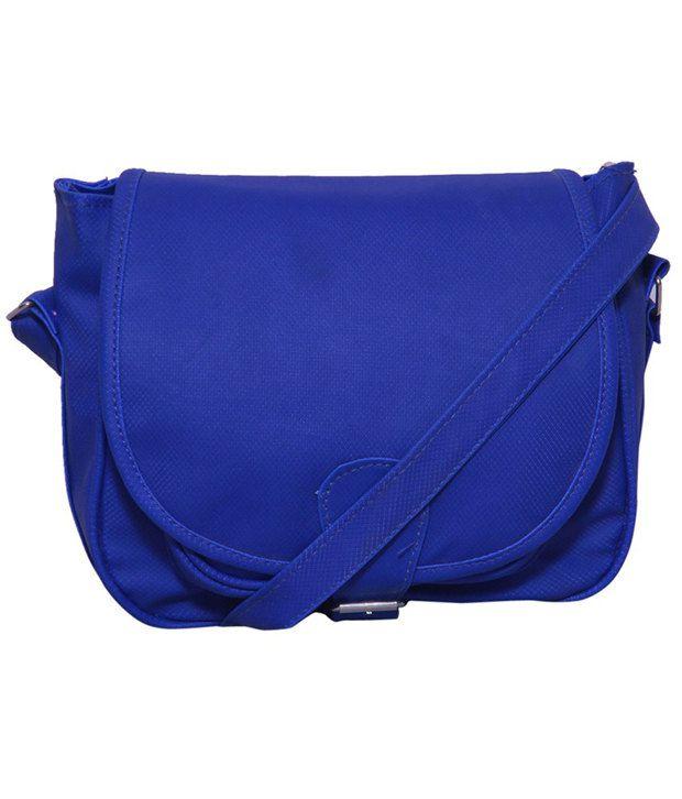 Jia Blue P.u. Sling Bag