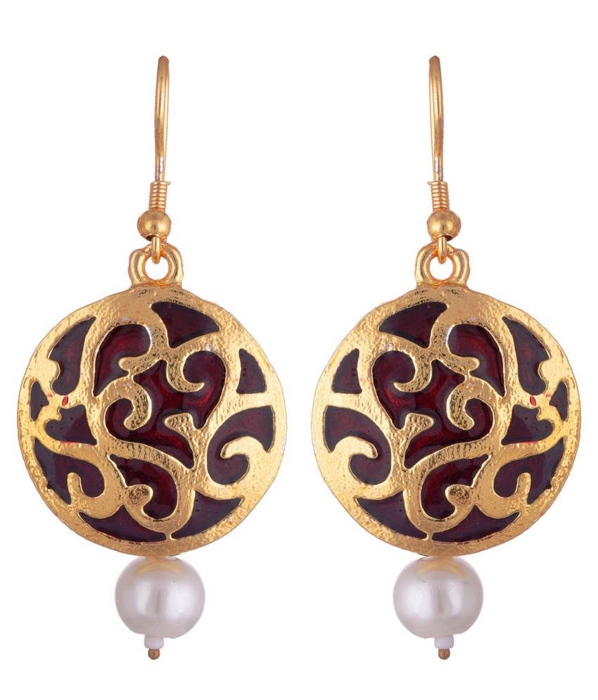dd18e6fbc Kshitij Indo Western Golden Hanging Earrings - Buy Kshitij Indo Western  Golden Hanging Earrings Online at Best Prices in India on Snapdeal