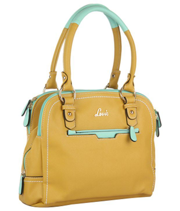 Lavie Yellow And Green Shoulder Bag