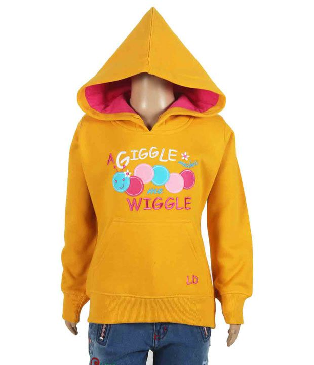 Little Dove Full Sleeves Yellow Color Sweatshirt For Kids